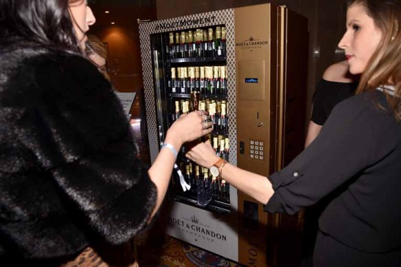 NEW YORK, NY - FEBRUARY 08: A view of the Moet Chandon champagne on display at Moet & Chandon Toasts to the amfAR New York Gala At Cipriani Wall Street at Cipriani Wall Street on February 8, 2017 in New York City. (Photo by Bryan Bedder/Getty Images for Moet & Chandon)