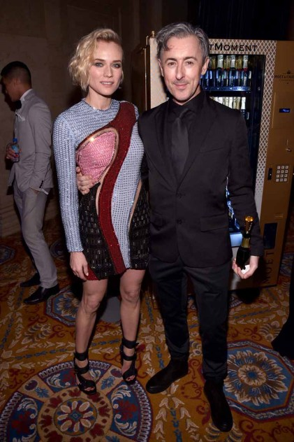 NEW YORK, NY - FEBRUARY 08: Diana Kruger and Alan Cumming attend as Moet & Chandon Toasts to the amfAR New York Gala At Cipriani Wall Street at Cipriani Wall Street on February 8, 2017 in New York City. (Photo by Bryan Bedder/Getty Images for Moet & Chandon) *** Local Caption *** Diana Kruger;Alan Cumming