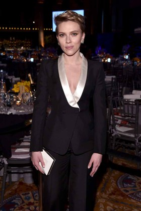 NEW YORK, NY - FEBRUARY 08: Actress Scarlet Johansson attends as Moet & Chandon Toasts to the amfAR New York Gala At Cipriani Wall Street at Cipriani Wall Street on February 8, 2017 in New York City. (Photo by Bryan Bedder/Getty Images for Moet & Chandon) *** Local Caption *** Scarlett Johansson