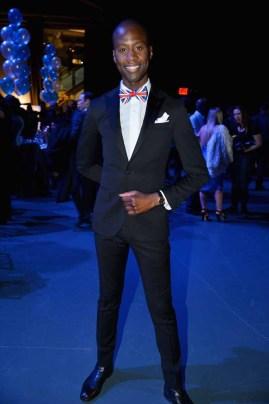 Charlii Sebunya== The Blue Jacket Fashion Show to Benefit the Prostate Cancer Foundation== Pier 59 Studios, NYC== February 1, 2017== ©Patrick McMullan== photo - Patrick McMullan/PMC== == Charlii Sebunya