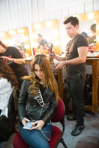 Zuzana Kollarova, Miss Slovak Republic 2016 gets hair done by a stylist from CHI Haircare backstage during The 65th MISS UNIVERSE® Telecast airing on FOX at 7:00 PM ET live/PT tape-delayed on Sunday, January 29 from the Mall of Asia Arena. The contestants have been touring, filming, rehearsing and preparing to compete for the Miss Universe crown in the Philippines. HO/The Miss Universe Organization