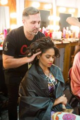 Jihan Dimack, Miss Tanzania 2016 gets hair done by a stylist from CHI Haircare backstage during The 65th MISS UNIVERSE® Telecast airing on FOX at 7:00 PM ET live/PT tape-delayed on Sunday, January 29 from the Mall of Asia Arena. The contestants have been touring, filming, rehearsing and preparing to compete for the Miss Universe crown in the Philippines. HO/The Miss Universe Organization