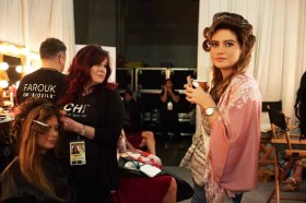 Johanna Acs, Miss Germany 2016; and Roshmitha Harimurthy, Miss India 2016; gets hair done by a stylist from CHI Haircare backstage during The 65th MISS UNIVERSE® Telecast airing on FOX at 7:00 PM ET live/PT tape-delayed on Sunday, January 29 from the Mall of Asia Arena. The contestants have been touring, filming, rehearsing and preparing to compete for the Miss Universe crown in the Philippines. HO/The Miss Universe Organization