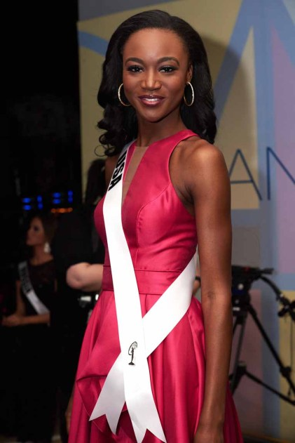 Deshauna Barber, Miss USA 2016 backstage during The 65th MISS UNIVERSE® Telecast airing on FOX at 7:00 PM ET live/PT tape-delayed on Sunday, January 29 from the Mall of Asia Arena. The contestants have been touring, filming, rehearsing and preparing to compete for the Miss Universe crown in the Philippines. HO/The Miss Universe Organization