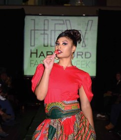 A design from La Moo at Hartford Fashion Week last October (MIKE CHAIKEN PHOTO)