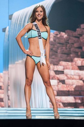 Madelynne Myers, Miss Kentucky USA 2017, competes on stage in Yandy Swim during the MISS USA® Preliminary Competition at Mandalay Bay Convention Center on May 11, 2017. The Miss USA contestants have been touring, filming, rehearsing and preparing to compete for the Miss USA crown in Las Vegas, Nevada. Tune in to the FOX telecast at 8:00 PM ET live/PT tape-delayed on Sunday, May 14, from Mandalay Bay Resort and Casino Las Vegas to see who will become Miss USA. HO/The Miss Universe Organization