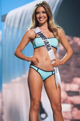 Bethany Trahan, Miss Louisiana USA 2017, competes on stage in Yandy Swim during the MISS USA® Preliminary Competition at Mandalay Bay Convention Center on May 11, 2017. The Miss USA contestants have been touring, filming, rehearsing and preparing to compete for the Miss USA crown in Las Vegas, Nevada. Tune in to the FOX telecast at 8:00 PM ET live/PT tape-delayed on Sunday, May 14, from Mandalay Bay Resort and Casino Las Vegas to see who will become Miss USA. HO/The Miss Universe Organization