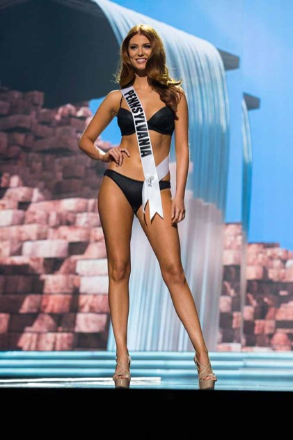 Cassandra Angst, Miss Pennsylvania USA 2017, competes on stage in Yandy Swim during the MISS USA® Preliminary Competition at Mandalay Bay Convention Center on May 11, 2017. The Miss USA contestants have been touring, filming, rehearsing and preparing to compete for the Miss USA crown in Las Vegas, Nevada. Tune in to the FOX telecast at 8:00 PM ET live/PT tape-delayed on Sunday, May 14, from Mandalay Bay Resort and Casino Las Vegas to see who will become Miss USA. HO/The Miss Universe Organization