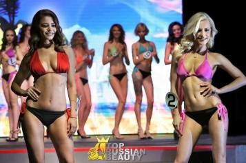 KARO Swimwear was the official swimsuit of the Top Russian Beauty pageant in June. (Courtesy of Anton Oparin/FashionStock.)