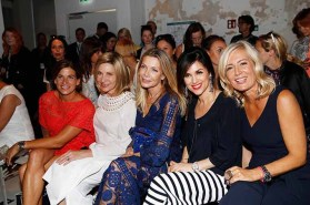 BERLIN, GERMANY - JULY 04: Marie-Jeanette Ferch, US Ambassador to Germany Kimberly Emerson, Ursula Karven, Viktoria Lauterbach and Judith Milberg attend the Laurel show during the Mercedes-Benz Fashion Week Berlin Spring/Summer 2018 at Kaufhaus Jandorf on July 4, 2017 in Berlin, Germany. (Photo by Franziska Krug/Getty Images for Laurel) *** Local Caption *** Judith Milberg;Ursula Karven;Kimberly Emerson;Viktoria Lauterbach;Marie-Jeanette Ferch
