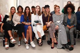 BERLIN, GERMANY - JULY 04: Guests attend the Laurel show during the Mercedes-Benz Fashion Week Berlin Spring/Summer 2018 at Kaufhaus Jandorf on July 4, 2017 in Berlin, Germany. (Photo by Matthias Nareyek/Getty Images for Laurel) *** Local Caption *** Aminata