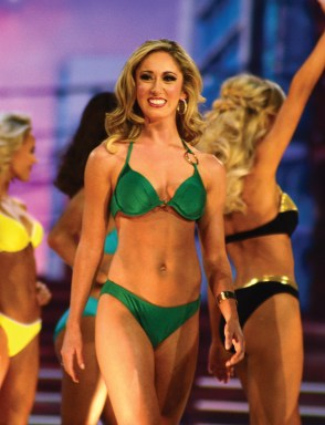 Miss Connecticut Eliza Kanner in her swimsuit for lifestyle and fitness.