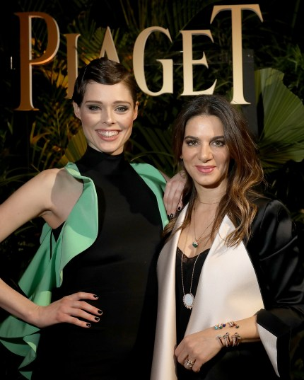 GENEVA, SWITZERLAND - JANUARY 15: (L-R) Coco Rocha and Piaget CEO Chabi Nouri attend the #Piaget dinner at the Country Club during the #SIHH2018 on January 15, 2018 in Geneva, Switzerland. (Photo by Remy Steiner/Getty Images for Piaget) *** Local Caption *** Chabi Nouri; Coco Rocha