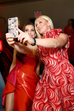 NEW YORK, NY - FEBRUARY 08: Actors Kate Walsh (L) and Elisabeth Rohm pose backstage at the American Heart Association's Go Red For Women Red Dress Collection 2018 presented by Macy's at Hammerstein Ballroom on February 8, 2018 in New York City. (Photo by Astrid Stawiarz/Getty Images for AHA) *** Local Caption *** Elisabeth Rohm;Kate Walsh