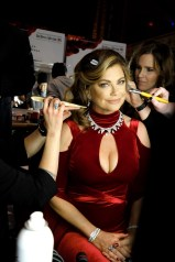 NEW YORK, NY - FEBRUARY 08: Model Kathy Ireland prepares backstage at the American Heart Association's Go Red For Women Red Dress Collection 2018 presented by Macy's at Hammerstein Ballroom on February 8, 2018 in New York City. (Photo by Michael Loccisano/Getty Images for AHA) *** Local Caption *** Kathy Ireland