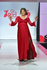 NEW YORK, NY - FEBRUARY 08: Meteorologist Ginger Zee prepares backstage at the American Heart Association's Go Red For Women Red Dress Collection 2018 presented by Macy's at Hammerstein Ballroom on February 8, 2018 in New York City. (Photo by Slaven Vlasic/Getty Images for AHA) *** Local Caption *** Ginger Zee