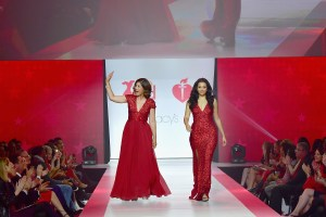 NEW YORK, NY - FEBRUARY 08: AHA national spokeswoman Lilly Rocha (L) and Karen A. Hill onstage at the American Heart Association's Go Red For Women Red Dress Collection 2018 presented by Macy's at Hammerstein Ballroom on February 8, 2018 in New York City. (Photo by Slaven Vlasic/Getty Images for AHA) *** Local Caption *** Lilly Rocha;Karen A. Hill