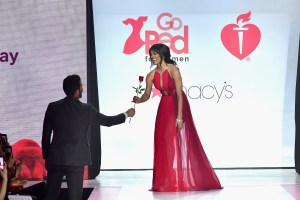 NEW YORK, NY - FEBRUARY 08: TV personalities Rachel Lindsay onstage at the American Heart Association's Go Red For Women Red Dress Collection 2018 presented by Macy's at Hammerstein Ballroom on February 8, 2018 in New York City. (Photo by Slaven Vlasic/Getty Images for AHA) *** Local Caption *** Rachel Lindsay
