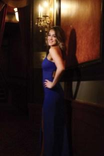 Morgan Mancini wears a dress from Sherri Hill.