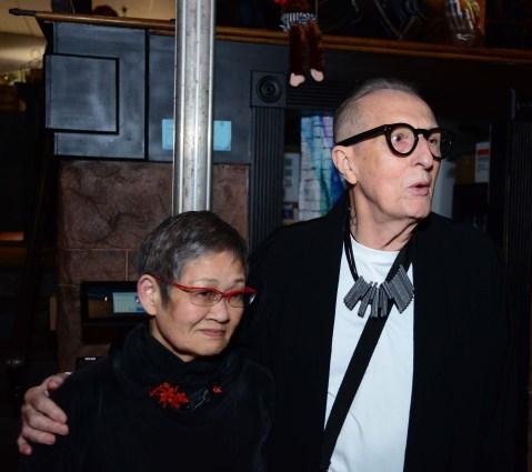 Eiko Sakai, left, and Thomas Foran