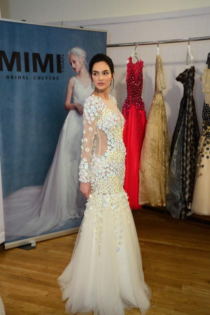 A bridal gown from Mimi Bridal Couture at The Knot Couture.