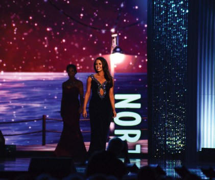 Miss America Cara Mund competes in last September's Miss America pageant in Atlantic City. (MIKE CHAIKEN PHOTO)