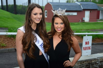 Miss Rhode Island Alexandra Coppa, left, with Miss America Cara Mund.