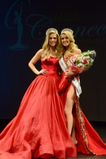 Jamie Hughes with the new Miss Connecticut USA Acacia Courtney.