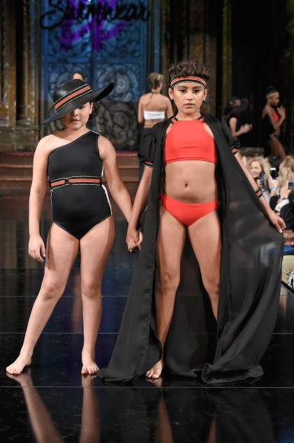 NEW YORK, NY - FEBRUARY 09: Models walk the runway at KK SWIMWEAR At New York Fashion Week Powered By Art Hearts Fashion NYFW at The Angel Orensanz Foundation on February 9, 2019 in New York City. (Photo by Meera Fox/Getty Images)