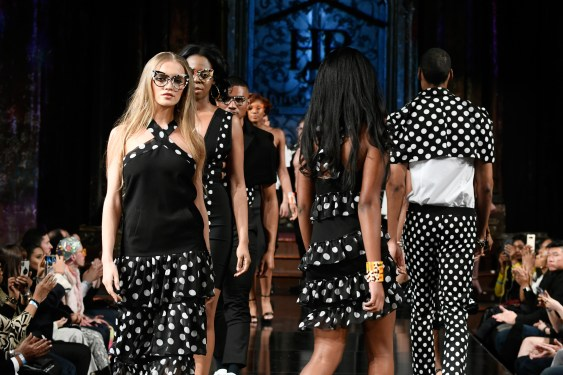 NEW YORK, NY - FEBRUARY 09: Models walk the runway for HOUSE OF BYFIELD At New York Fashion Week Powered By Art Hearts Fashion NYFW at The Angel Orensanz Foundation on February 9, 2019 in New York City. (Photo by Arun Nevader/Getty Images)