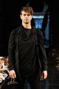 NEW YORK, NY - FEBRUARY 10: A model walks the runway for MISTER TRIPLE X At New York Fashion Week Powered By Art Hearts Fashion NYFW at The Angel Orensanz Foundation on February 10, 2019 in New York City. (Photo by Arun Nevader/Getty Images)