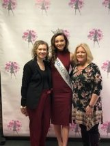 Stephanie LaBonte, Miss Connecticut 2018 Bridget Oei, and Carol Jurzyk