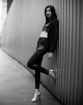 Aislinn in Janelle Funar, photographedi by Michael McCabe.