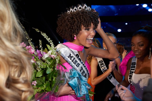 Kaliegh Garris, Miss Connecticut TEEN USA 2019, is crowned the new Miss Teen USA at the conclusion of the special programming event from Grand Sierra Resort and CasinoÕs (GSR) Grand Theatre on Sunday, April 28. The new winner will become a spokesperson for various causes alongside The Miss Universe Organization. HO/The Miss Universe Organization