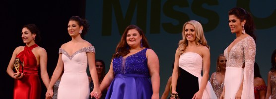 The final five at the Miss Connecticut Scholarship Competition.