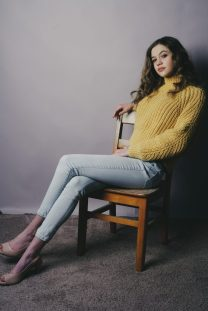 Model Adele Johnson in her skinny jeans. Photograph by Mike Chaiken. Adele appears courtesy of John Casablancas Modeling and Acting Agency of Connecticut.