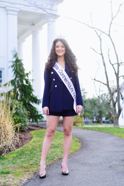 Lindiana Frangu is Miss Connecticut's Outstanding Teen. PHOTO by MIKE CHAIKEN