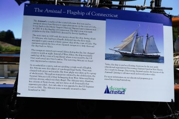 A placard describes the story of the Amistad.
