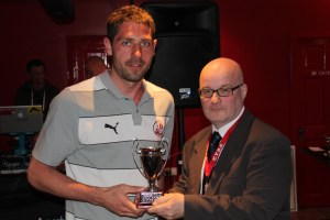 Away Travellers Player of the Year Paul Jones, and a short bloke!