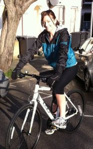 Karen gets on her bike to help find missing people- please help her by giving generously