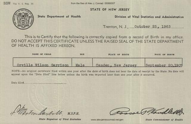 This Week in my Genealogy – Orville W Garrison   News about dead people