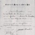thumbnail image of Joseph Funston consent to daughter's marriage