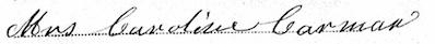 Caroline Carman's signature