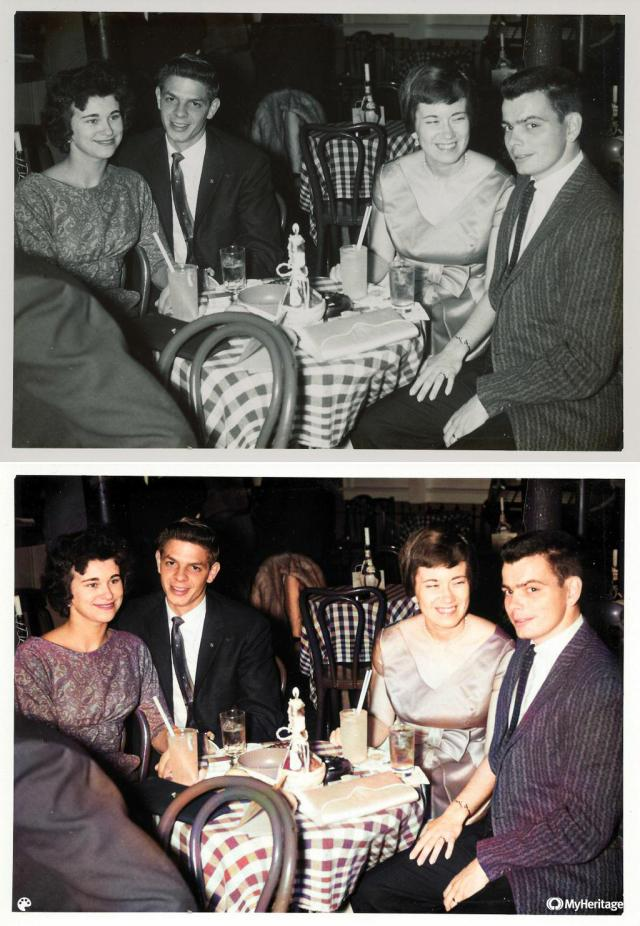 Comparison of original & colorized photo