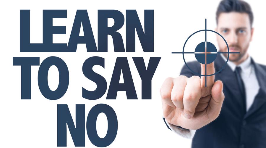 """Say """"no'"""