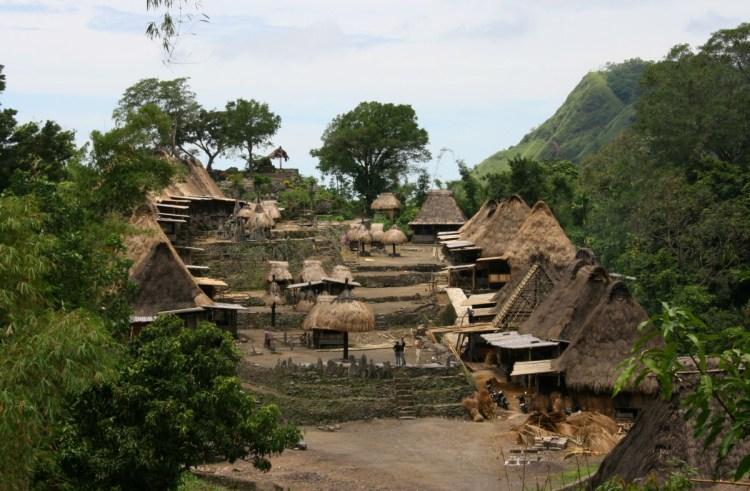 traditioneel dorp Bena op Flores