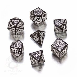 Black/White Steampunk Dice