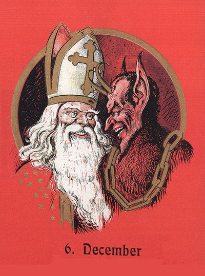 Santa Claus e o Krampus.