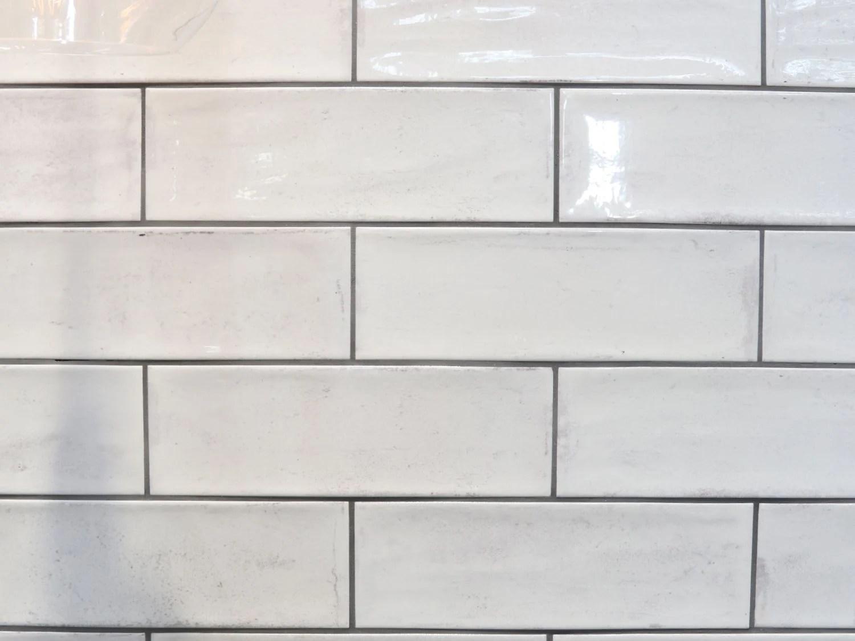 arles snow glossy white subway ceramic wall tile 300 x 100mm