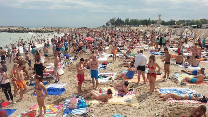 Aglomerație la plajă